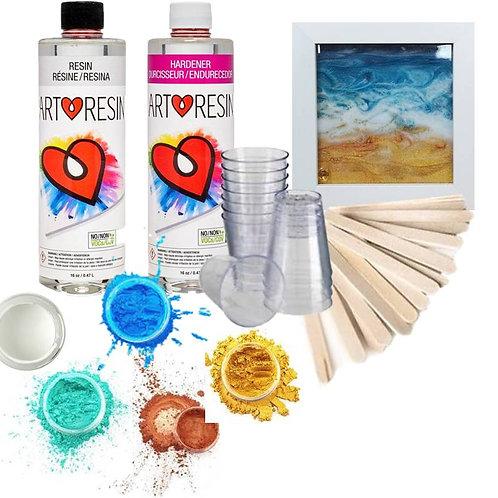 Coastal Resin Art Coaster Kit