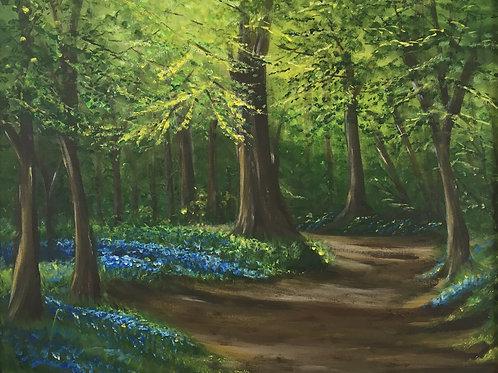 Dappled Sunlight, Framed Painting