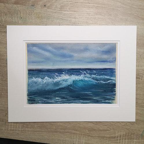 The wave I, Original Pastel Painting