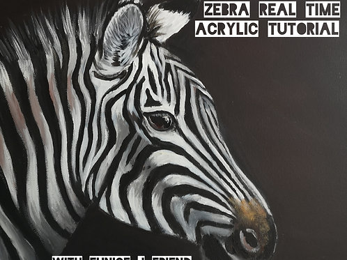 Zebra Acrylic Painting Tutorial