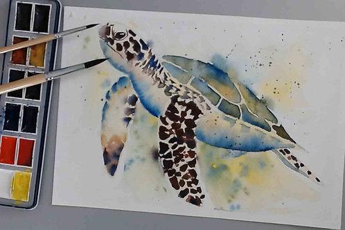 Sea Turtle Watercolour  Tutorial
