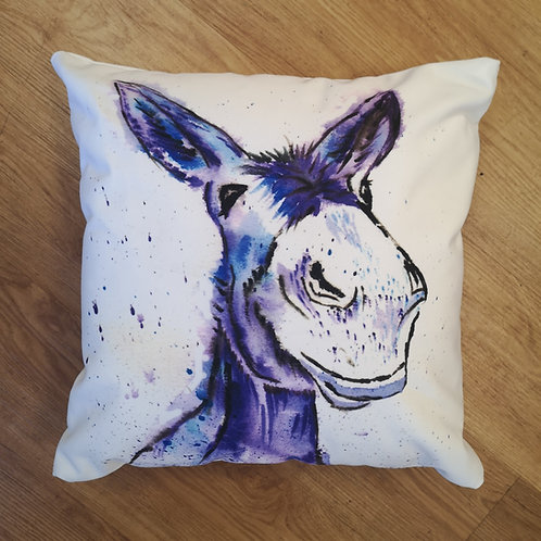 Pedro the Donkey, Cotton Canvas Cushion