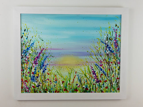 SOLD Summer Breeze, framed original painting