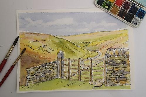 The Dale's, watercolour A4