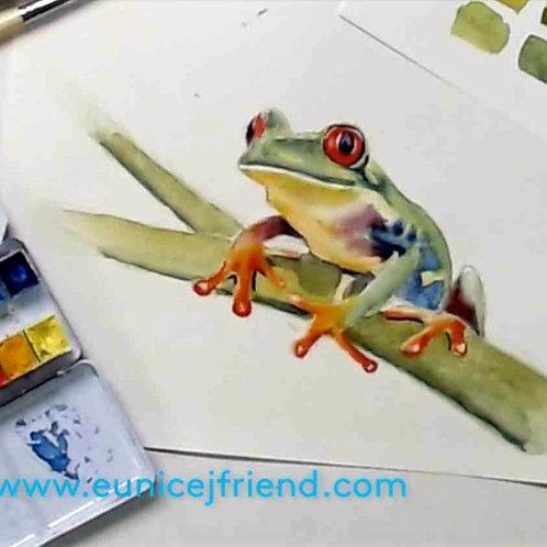 Cute Tree Frog Watercolour Tutorial