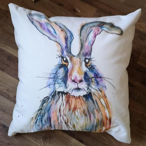 Bad Hare Day, Cotton Canvas Cushion