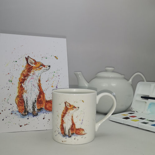 Amber the Fox Mug & Print Offer