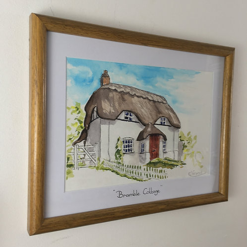 Personalised Ink & Wash house portrait