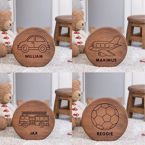 Personalised Child's Solid Wooden Stool