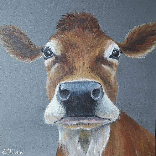 Dehlia Moo, Signed Giclee Canvas Print