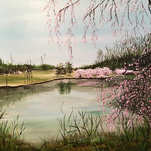 Beneath the blossom tree