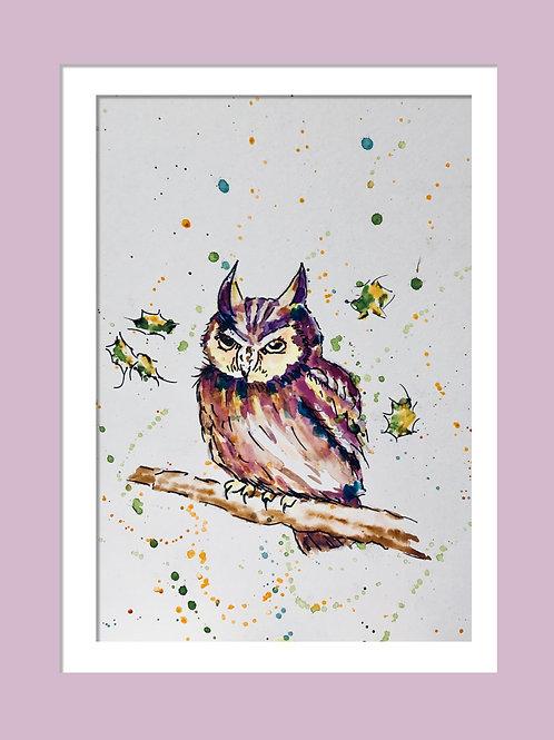 Oliver Owl, Original Watercolour