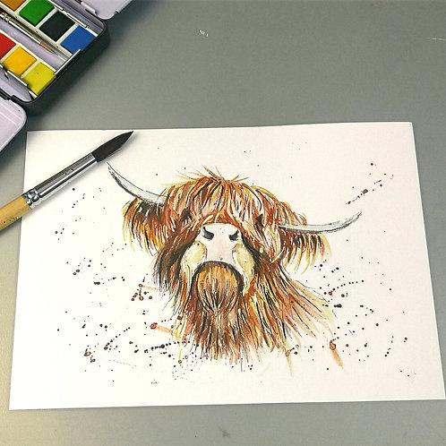 Fergus, watercolour Print