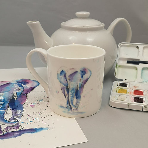 Tembo The Elephant  Bone China Mug