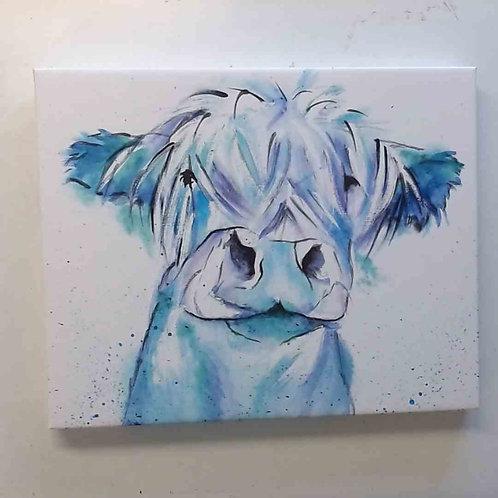 Blue Moo Canvas Print