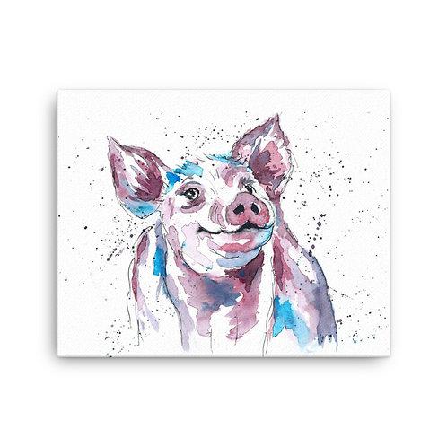 Percival Piggy Canvas Print