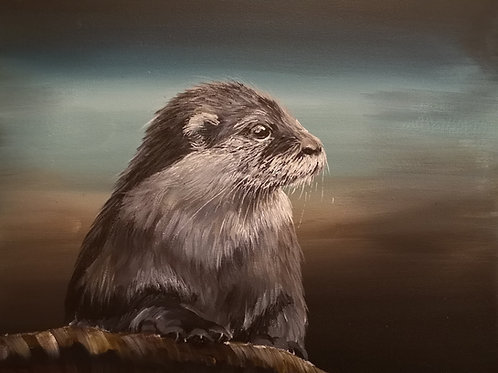 Otterly Gorgeous - Signed Giclee Canvas Print