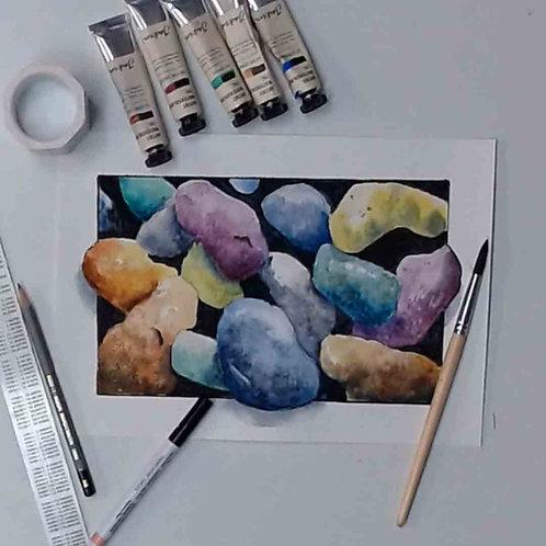 Pebble Watercolour Tutorial