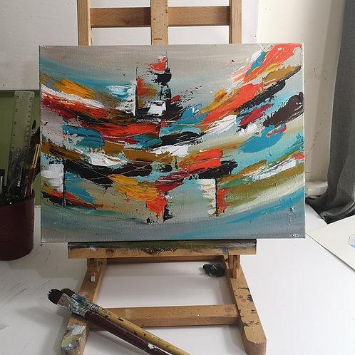 Motion, 12 x 16 inch acrylic on deep canvas