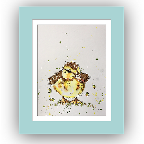 Dilly Duckling, Original Watercolour