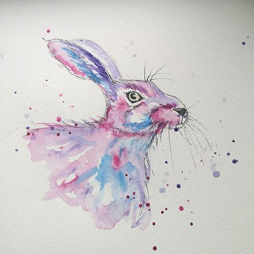 Rosie the Hare original watercolour