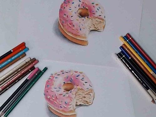 Fun Doughnut colour Pencil Tutorial