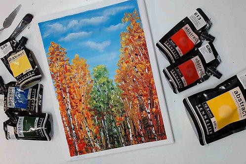 Autumn Trees Acrylic Painting Tutorial