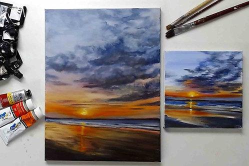 Sunrise Beach Acrylic Painting Tutorial
