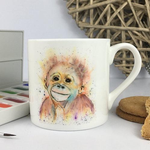 Monkey Business, Bone China Mug