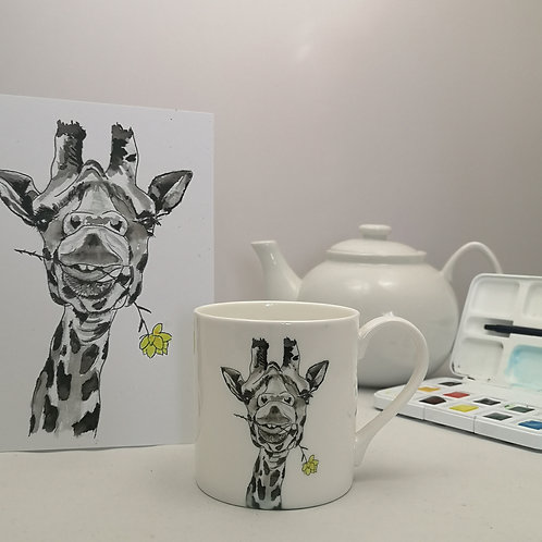 Lonesome George Giraffe  Mug & Print Offer