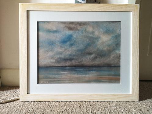 Stormy Sky, original framed pastel artwork