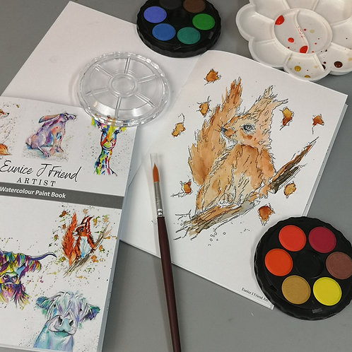 Watercolour Painting Book & Art Kit