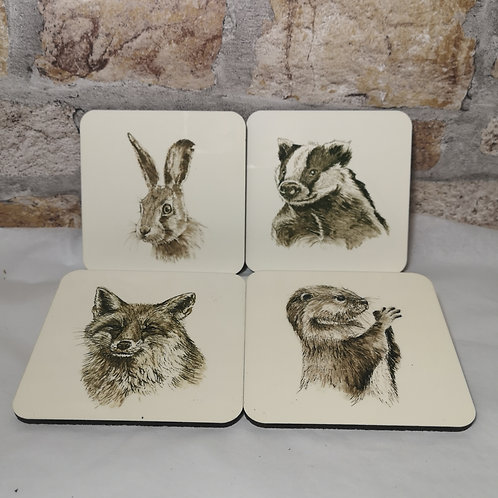 Inky Wildlife Coasters