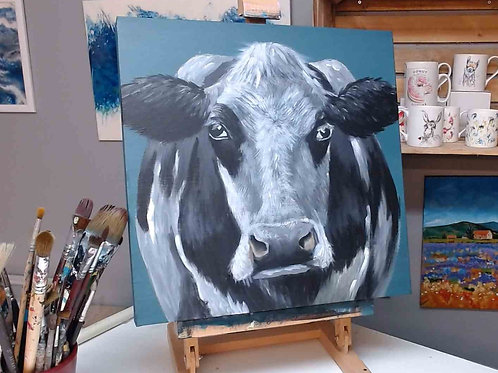 Daisy Cow- Acrylic Painting Tutorial