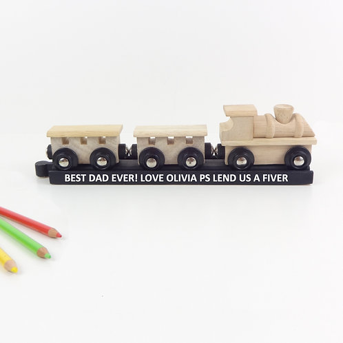 Personalised Wooden Train Keepsake