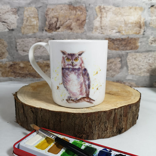 Cyril Owl bone china mug