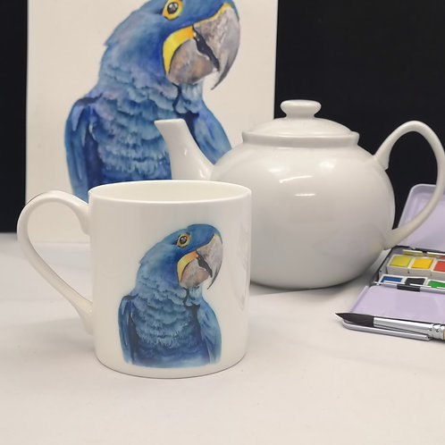 Buddy the Bue Macaw, Bone China Mug