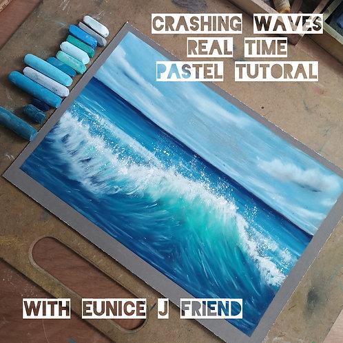 Crashing Waves Pastel Tutorial