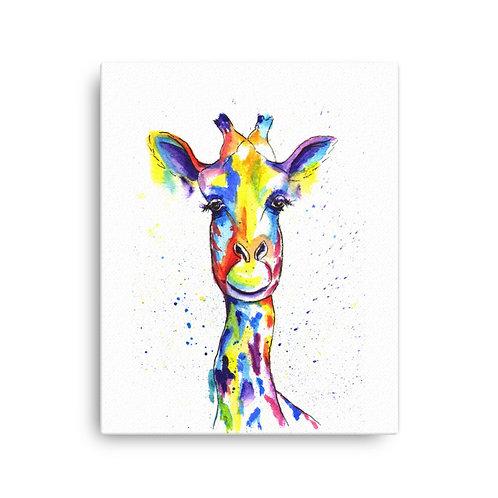 Flower Giraffe,  Canvas Print