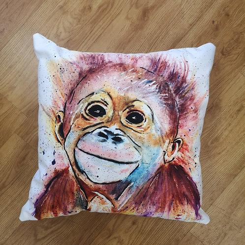 Monkey Business, Cotton Canvas Cushion