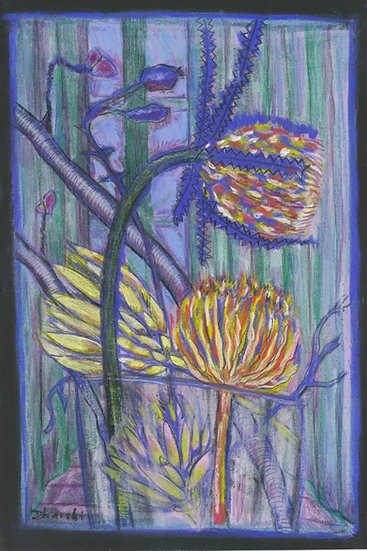 Sugarbush and Banksia in Vase