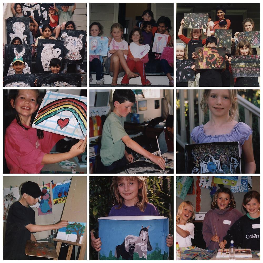 children art classes, art students, art classes, Mount Eden; Auckland. My classes were called The Ladybird Art Workshop.
