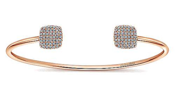 Gabriel & Co.- Open Pave Diamond Cushion Bangle