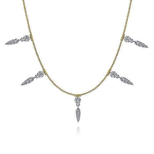 Gabriel & Co.- Diamond Station Necklace