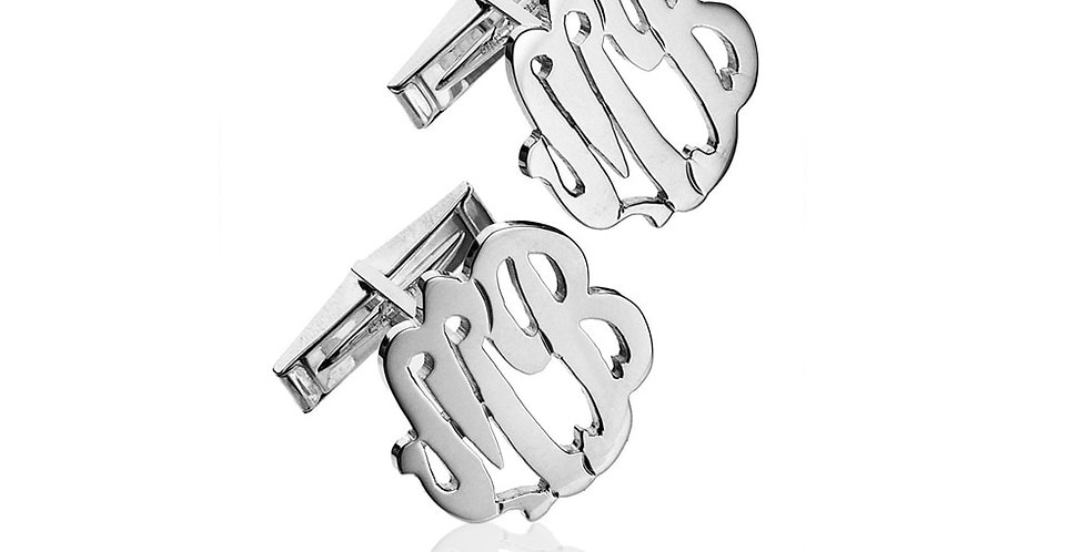 Two Initial Script Monogram Cuff Links