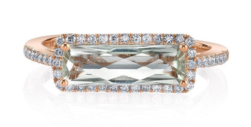 MARS Fine Jewelry - Golden Blossoms Green Quartz Ring