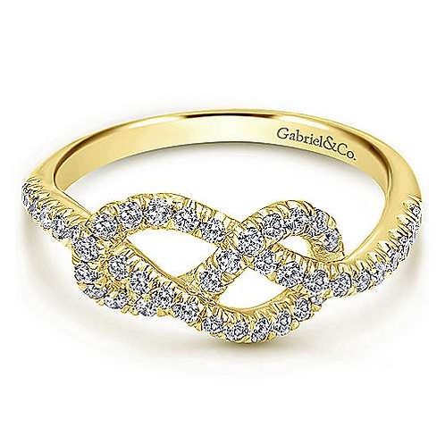 Gabriel & Co. - Twisted Knot Diamond Ring