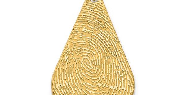 Tear Drop Fingerprint Charm
