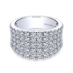 Gabriel & Co. - Wide Curved Diamond Band