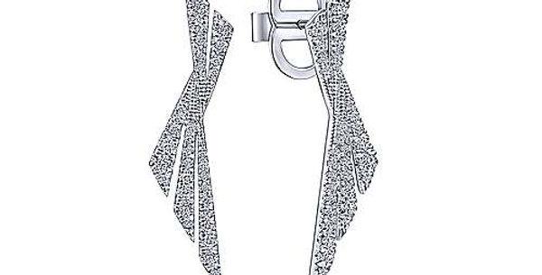 Gabriel & Co. Art Modern Diamond Earrings
